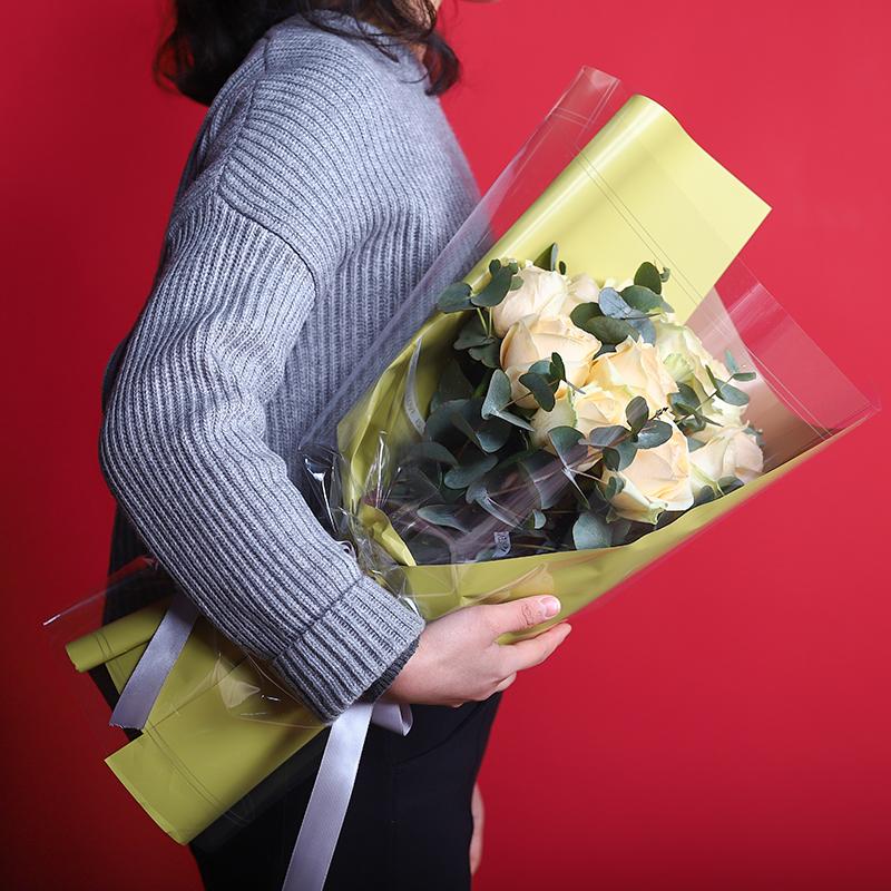 正午阳光-11朵香槟玫瑰 北京花店app哪家*好?生日鲜花这样选择百搭又好看
