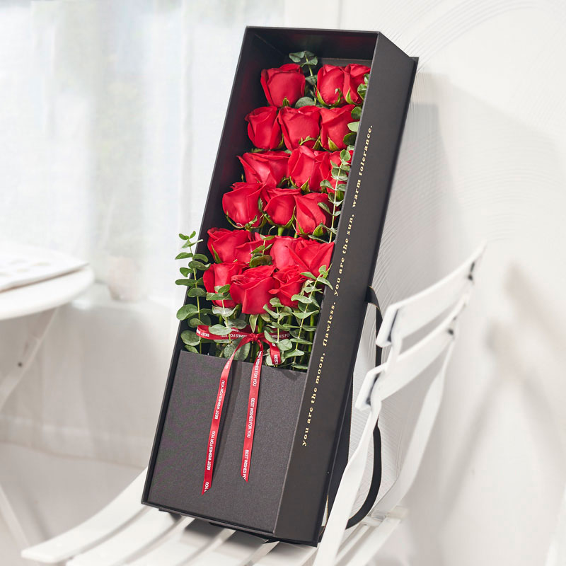 爱的勇气-19朵红玫瑰 佛山鲜花速递哪家app好?夫妻结婚纪念日*适合送什么礼物