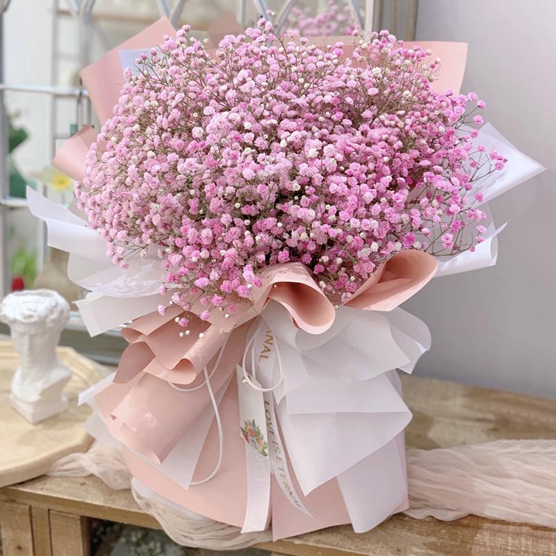 浪漫记忆-粉色满天星 不同的访友场合可以送哪些不同的鲜花作礼物?巴中网上订花app哪家好