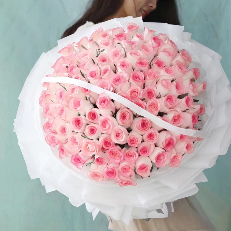 浮生有你-99朵艾莎玫瑰 宁德鲜花店哪家服务好?妻子生日该送什么鲜花你送对了吗