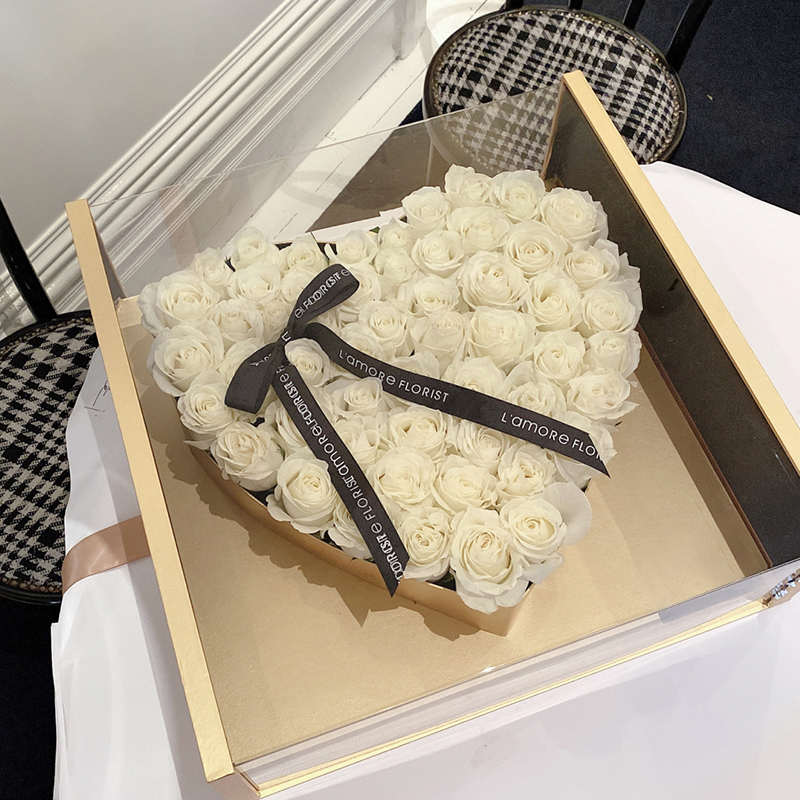 爱在心间-66朵白玫瑰 商洛网上花店哪家平台好?女朋友生日送什么花