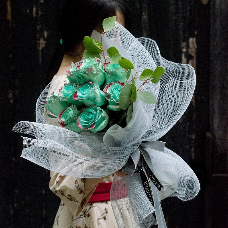 倾情于你-9朵薄荷玫瑰 台州鲜花速递哪个app服务好?什么鲜花是代表道歉的