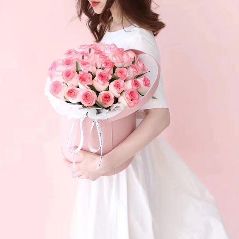 花与爱丽丝-52朵艾莎玫瑰 唐山线上花店哪家不错?射手座女朋友生日送哪些鲜花*好