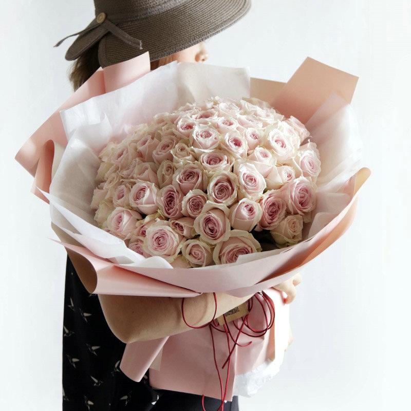 陌上花开-99朵粉红雪山 安庆市花店网上鲜花速递哪好?情人生日送什么礼物好
