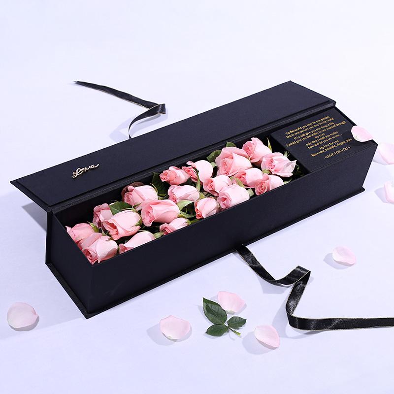 浪漫一生-19朵粉玫瑰 合肥鲜花店哪家好?与朋友分离赠送什么鲜花