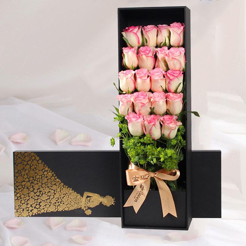 嫣然心动-19朵红袖玫瑰 凯里同城花店哪家好?哪些花适合送给闺蜜