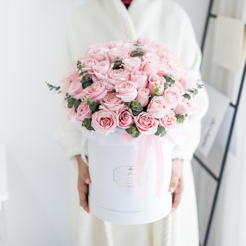 甜蜜的期待-52朵粉红雪山