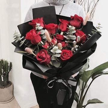 爱的期许-11朵进口厄瓜多尔红玫瑰