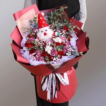 美好浪漫-26朵混色玫瑰圣诞款