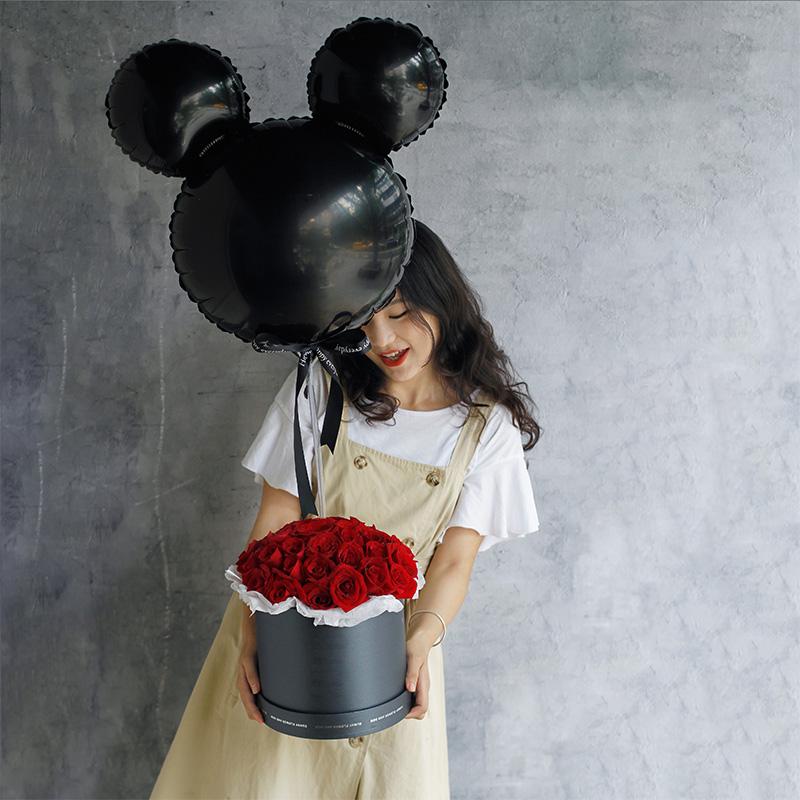 爱意浓-33朵红玫瑰网红抱抱桶