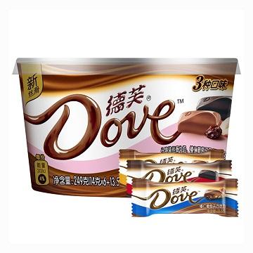 花式宠爱-德芙3种口味碗装巧克力