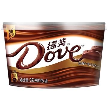 幸福约定-德芙丝滑牛奶巧克力味碗装