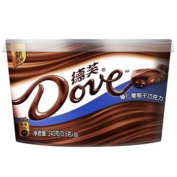 爱在此刻-德芙榛仁葡萄干巧克力味碗装