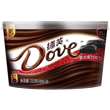 甜蜜私语-德芙香浓黑巧克力味碗装