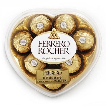 满满的爱-费列罗巧克力心形礼盒装