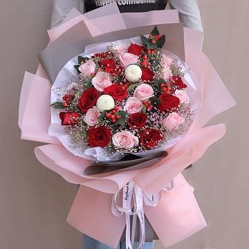 祝福挚爱-33朵混色玫瑰