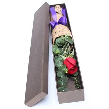 一心一意-1朵红玫瑰礼盒装