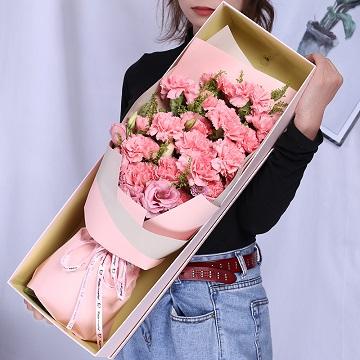 恩情无限-19朵粉色康乃馨