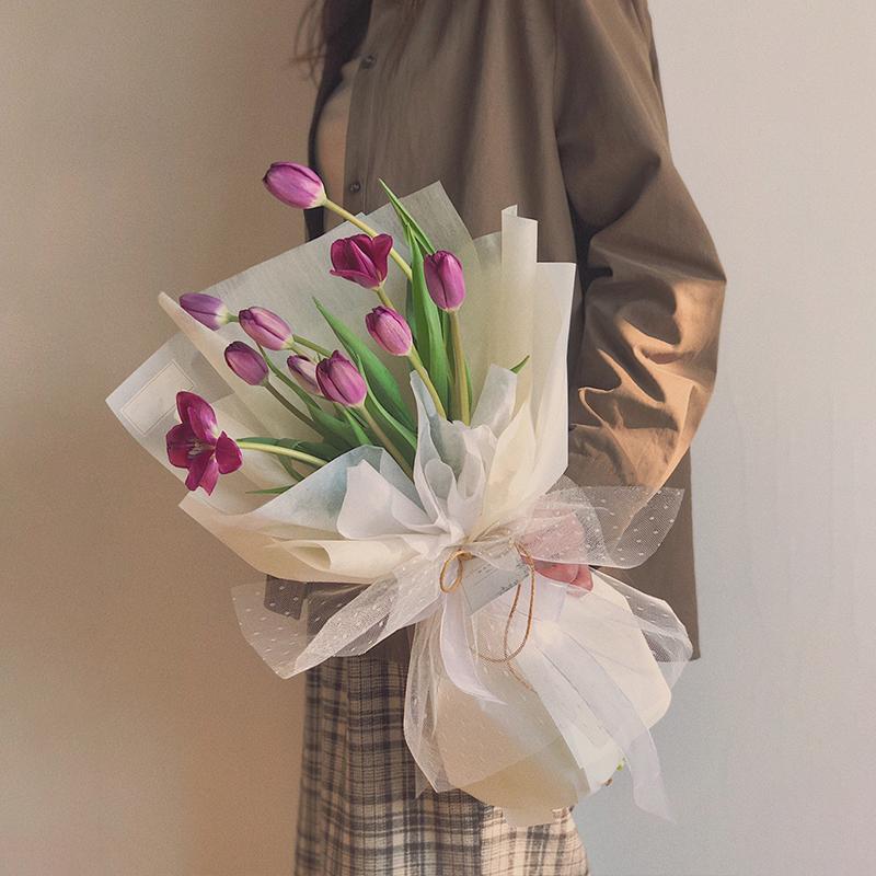 绮梦-10朵紫色郁金香