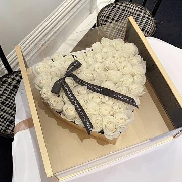 宝贝对不起-66朵白玫瑰