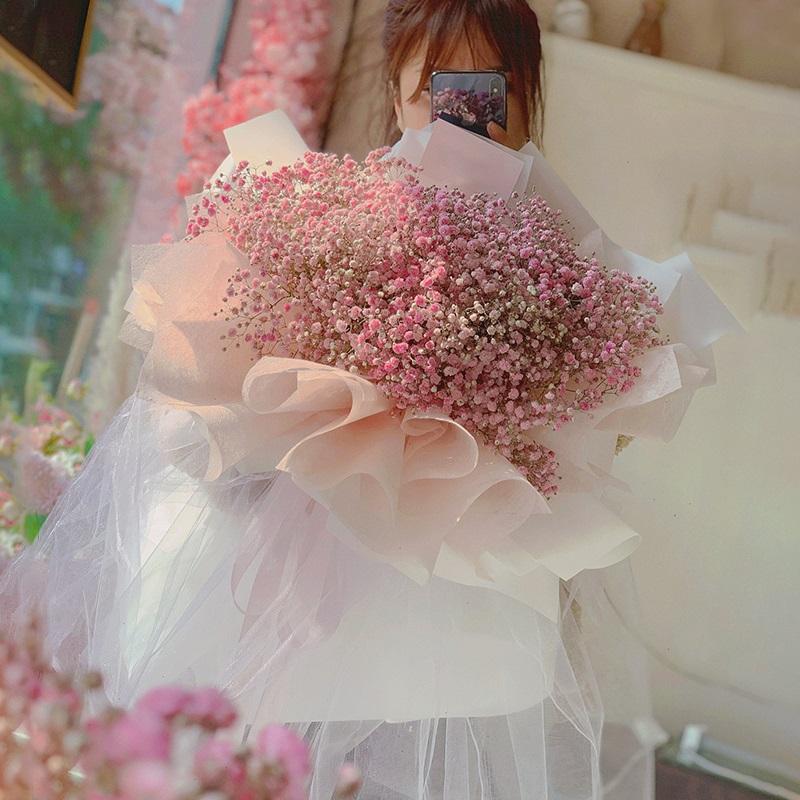 闻香识爱-粉色满天星花束