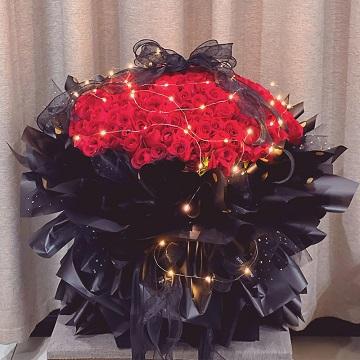 爱你,我的宝贝-199朵红玫瑰花束